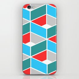 Simple Pattern Blue and Red iPhone Skin
