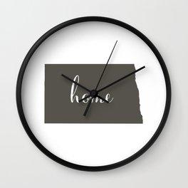 North Dakota is Home Wall Clock