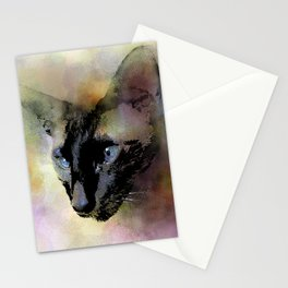 Cat 620 Siamese Stationery Cards