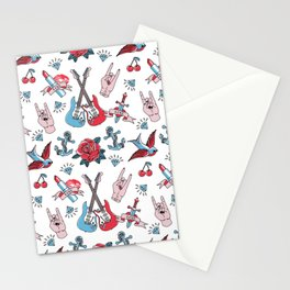 Old School Tattoo Love Rock Stationery Cards