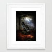 dentist Framed Art Prints featuring Dentist horror by Cozmic Photos