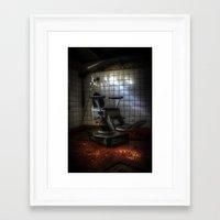 dentist Framed Art Prints featuring Dentist horror by Cozmic Photos