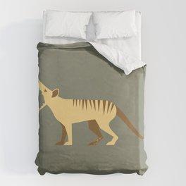 EXTINCT: Thylacine (Tasmanian Tiger) Duvet Cover