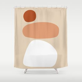 Abstract Shape Series - Stacking Stones Shower Curtain