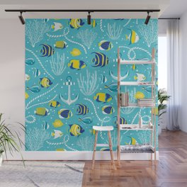 Deep Blue Sea Aqua Wall Mural