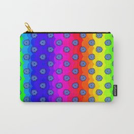 Rainbow and blue flowers Carry-All Pouch