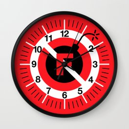 F-Bombs Prohibited, No F-bombs by Dennis Weber of ShreddyStudio Wall Clock