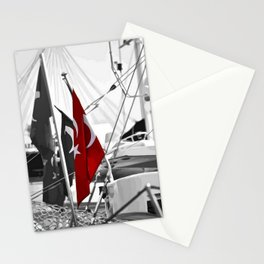 Flag of Turkey - Selective Coloring Stationery Cards