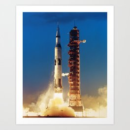 "Apollo Saturn V ""LIFTOFF"" 1967 Art Print"