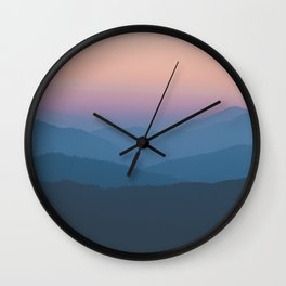 Sunset over Nepal Wall Clock