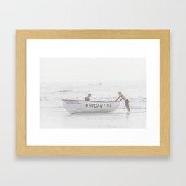 Brigantine Lifeboat Framed Art Print