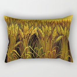 Classical Masterpiece 'Wheat' by Thomas Hart Benton Rectangular Pillow
