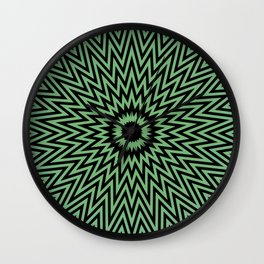 Abstract painting by Leslie harl Ow Wall Clock