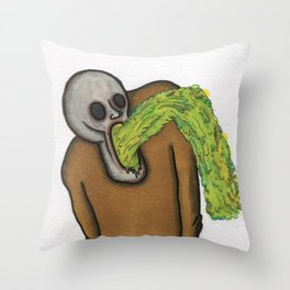 Undead Food Poisoning Throw Pillow