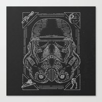 storm trooper Canvas Prints featuring Storm Trooper by Jon Deviny