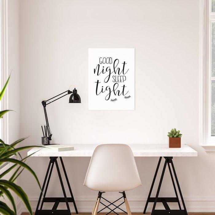Printable Art Good Night Sleep Kids Wall Bedroom Decor Nursery S C Poster By Alextypography