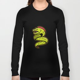 Moray Eel Sports Mascot Long Sleeve T-shirt
