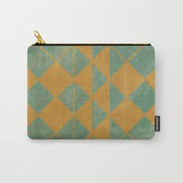 Emerald and Gold Marble Design Carry-All Pouch