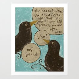 Overheard - My Friend Art Print