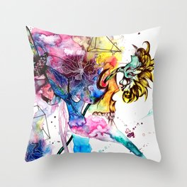 At these levels there is no danger of spinal cord injury Throw Pillow