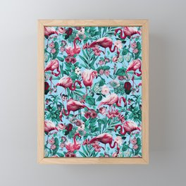 Spring Summer Floral Pattern Framed Mini Art Print