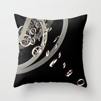 the lord of the rings Throw Pillows featuring Lord of the rings (2) by Brian Raggatt