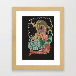 Yakuza Tattoo Framed Art Print