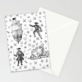Pirate's Life Stick and Poke Illustration Stationery Cards