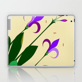 Lavenders and Violet Colored Lilies Laptop & iPad Skin