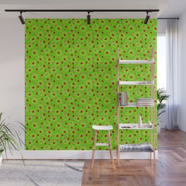 Dot Ladybugs - Chartreuse & Lime Green Color Wall Mural