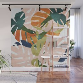Monstera delight Wall Mural
