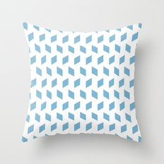rhombus bomb in dusk blue Throw Pillow