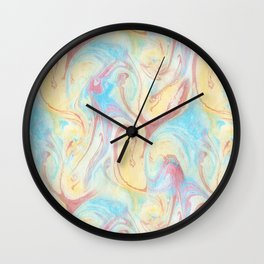 Flame Marble Wall Clock