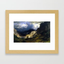 A Storm In The Rocky Mountains Framed Art Print
