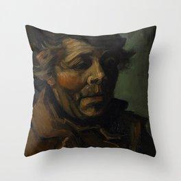Vincent van Gogh - Head of a Peasant (1884) Throw Pillow