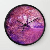 wander Wall Clocks featuring wander by Luiza Lazar