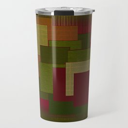 Yellow Color Geometry Travel Mug