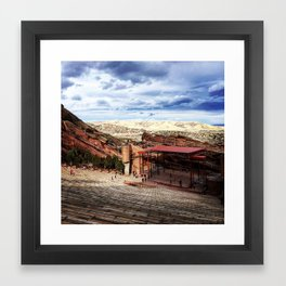 Red Rocks Framed Art Print