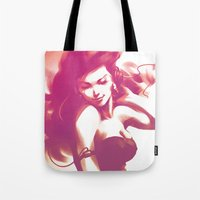 dance Tote Bags featuring Pepper Dance by Artgerm™