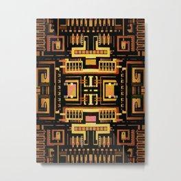 Circuit board v5 Metal Print