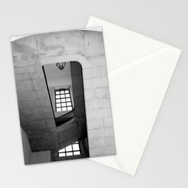 The misunderstood half of a window | Number 9 | Black and white Architecture Photography Stationery Cards