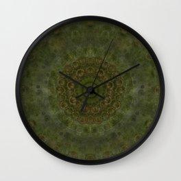 """Autumn mandala"" (Green-Grey Pattern) Wall Clock"