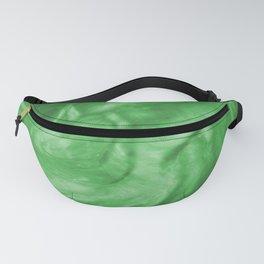 Flowing Shamrock Green Pearlescent Haze Fluid Art Illustration Fanny Pack