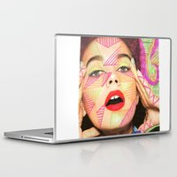 neon Laptop & iPad Skins featuring Neon  by Kate Allison