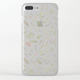 pastel flower design Clear iPhone Case