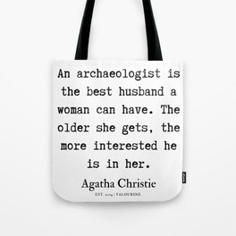 6 | Agatha Christie Quotes | 190821 Tote Bag