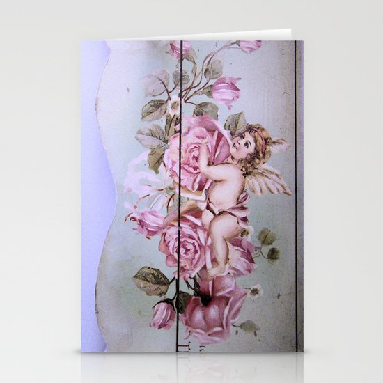Angel Rose woodpanel Stationery Cards