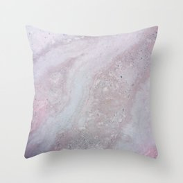 Elegant Pink Polished Marble Throw Pillow
