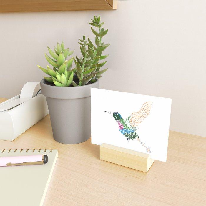 Abstract Hummingbird ~ Garnet-throated Variant Mini Art Print