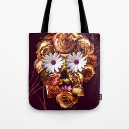 Withering Rose Skull Tote Bag